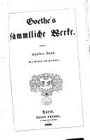 Sämmtliche Werke /Goethe