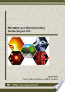 Materials and Manufacturing Technologies XIV