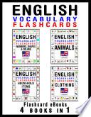 English Vocabulary Flashcards - 4 books in 1