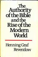 Bibelautorit  t und Geist Der Moderne  Anglais