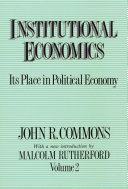 Pdf Institutional Economics Telecharger