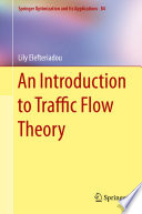 An Introduction to Traffic Flow Theory Book
