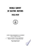 World Survey of Electric Motors  1955 1959