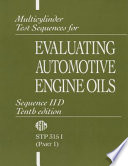 Multicylinder Test Sequences for Evaluating Automotive Engine Oils: Sequence IID