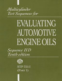 Multicylinder Test Sequences for Evaluating Automotive Engine Oils  Sequence IID