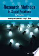 Research Methods in Social Relations Book