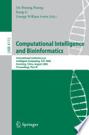 Computational Intelligence and Bioinformatics Book