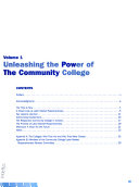 The 21st century Community College  Unleashing the power of the community college