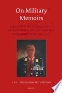 On Military Memoirs  : A Quantitative Comparison of International Afghanistan War Autobiographies, 2001-2010