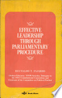 Effective Leadership Through Parliamentary Procedure