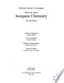 Solutions Manual to Accompany Shriver and Atkins Inorganic Chemistry