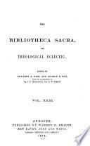 Bibliotheca Sacra Book