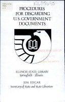 Procedures For Discarding U S Government Documents