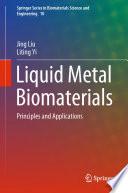 Liquid Metal Biomaterials Book