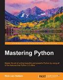 Pdf Mastering Python