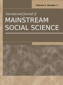 Pdf International Journal of Mainstream Social Science: Vol.2, No.1