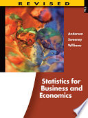 Statistics for Business and Economics, Revised