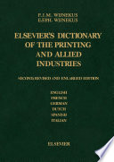 Dictionary of the Printing and Allied Industries