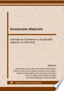 Sustainable Materials Book