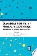 Quantitative Measures Of Mathematical Knowledge