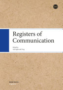 Registers of Communication