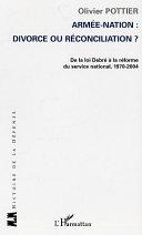 Pdf Armée-Nation: divorce ou réconciliation ? Telecharger