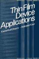 Thin Film Device Applications Book