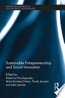Sustainable Entrepreneurship and Social Innovation