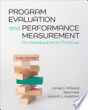 Program Evaluation and Performance Measurement