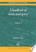 """Handbook of Herbs and Spices: Volume 2"" by K. V. Peter"