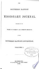 Southern Baptist Missionary Journal Book PDF