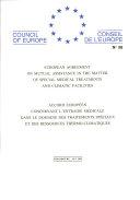 Pdf Accord européen concernant l'entraide médicale dans le domaine des traitements spéciaux et des ressources thermoclimatiques (STE 38) Telecharger