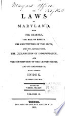 The Laws Of Maryland 1786 1800