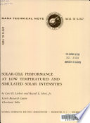Solar Cell Performance At Low Temperatures And Simulated Solar Intensities Book PDF