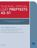 The 10 Actual  Official Lsat Book