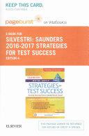 Saunders Strategies for Test Success 2016 2017 Pageburst on VitalSource Access Code   Saunders Strategies for Test Success 2016 2017 Evolve Access Code