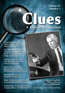 Pdf Clues: A Journal of Detection, Vol. 33, No. 1 (Spring 2015) Telecharger