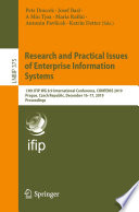 Research and Practical Issues of Enterprise Information Systems Book