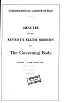 Minutes of the ... Session of the Governing Body