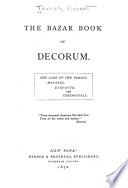 The Bazar book of decorum