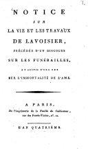 Notice sur la vie et les travaux de Lavoisier ebook