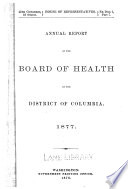 Report of the health officer of the District of Columbia. 1877