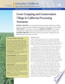 Cover Cropping and Conservation Tillage in California Processing Tomatoes Book