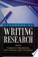 Handbook of Writing Research Book