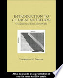 Introduction to Clinical Nutrition, Second Edition