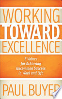 Working Toward Excellence Book