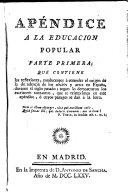 Discurso sobre la educacion popular de los artesanos y su fomento