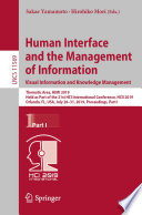 Human Interface and the Management of Information  Visual Information and Knowledge Management