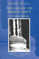 Simone Weil s The Iliad  Or  The Poem of Force