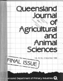 Queensland Journal Of Agricultural And Animal Sciences